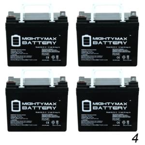 12v 35ah Sla Battery For Goal Zero Yeti 400 Solar Generator - 4 Pack - Mighty Max Battery