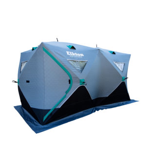 6-8 Person Insulated Double Ice Fishing Tent With Ventilation Windows & Carry Pack - Elkton Outdoors