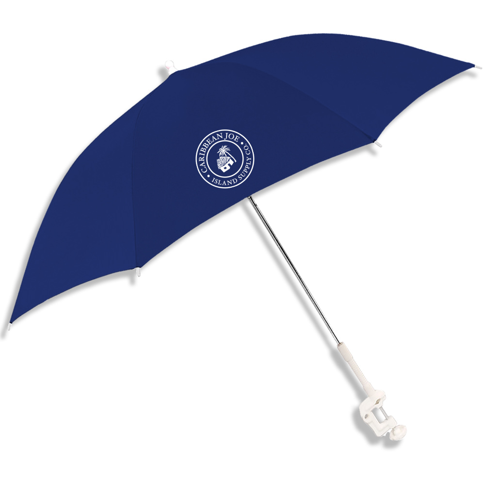 Academy Clamp Beach Chair Umbrella Navy Uvb Protection