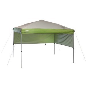 Coleman 7' X 5' Staight Leg Instant Canopy Sunwall Shelter, Green (35 Sq. Ft Coverage) Accessory Only