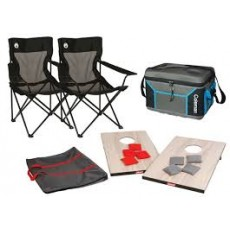 Coleman Outdoor Fun Camp Chair Package With Cooler And Beanbag Toss Game