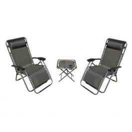 Discover Home Products 3 Piece Zero Gravity Set – Gray - Best Choice Products