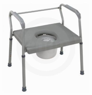 Heavy-duty Steel Commode – Platform Seat - Duro-med
