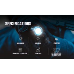 Olight M1t Raider 500 Lumen Compact Edc Flashlight