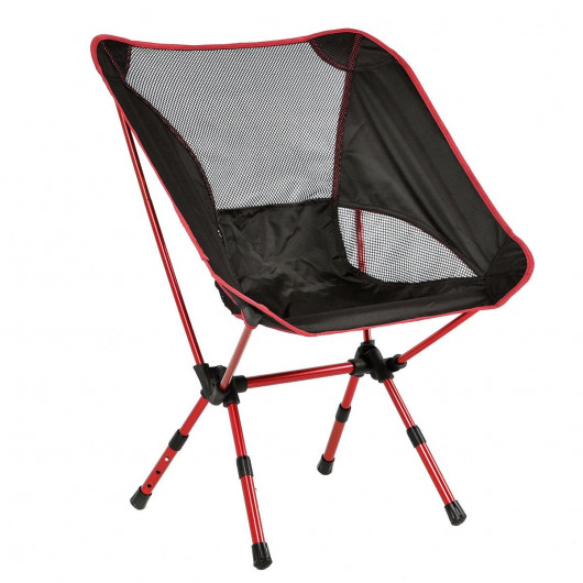 Outdoor Adjustable Folding Aluminum Camping Chair W/ Bag - Costway