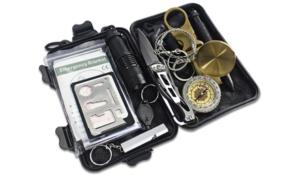 Outdoor Nation Survival Gear Kits 13 In 1- Outdoor Emergency Sos Survive Tool Black - Generic