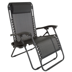 Pure Garden Oversized Zero Gravity Beach, Patio & Camping Chair
