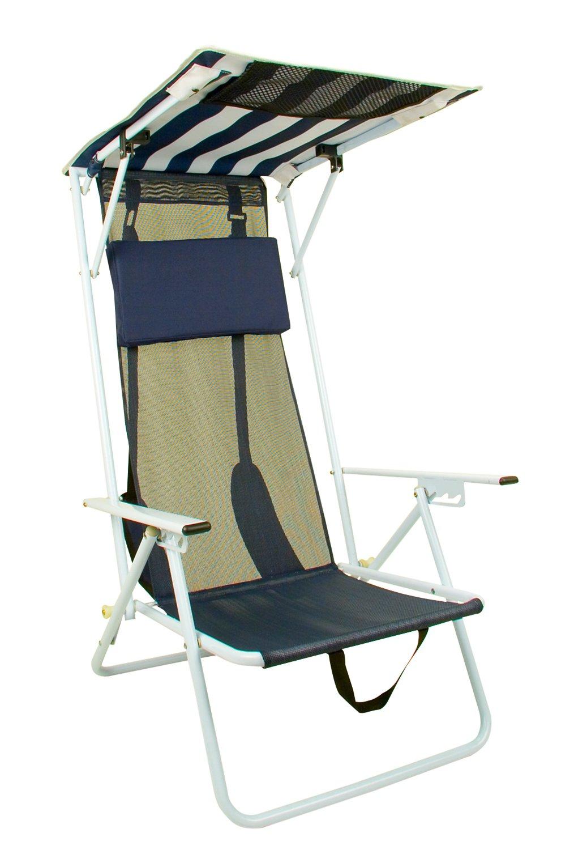 Quik Shade Adjustable Shade Canopy Folding Beach Chair