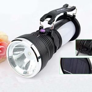 Solar Power Rechargeable Battery Led Flashlight Camping Tent Light Lantern Lamp-us Plug - VicTsing