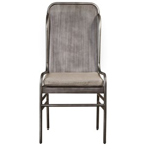 Universal Curated Academy Metal Host Chair With Upholstered Seat - Miles Kimball