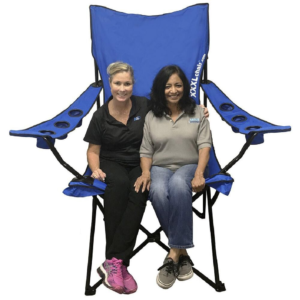 Xxl Giant Sized Camp Chair, Blue - Ozark Trail
